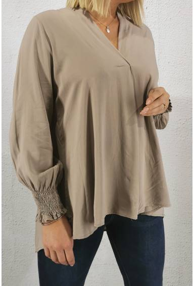 Marilyn Blouse Taupe
