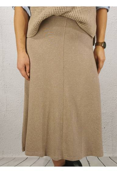 Irma knitted Skirt Taupe