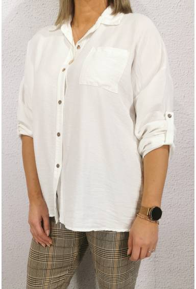 Lina Blouse crincled Offwhite