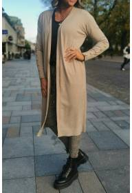 96301 Cardigan gold buttons Taupe