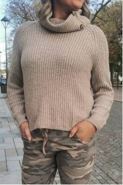 Knitted Sweater roll neck Mocca