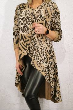 4649 Leo Tunic buttons beige