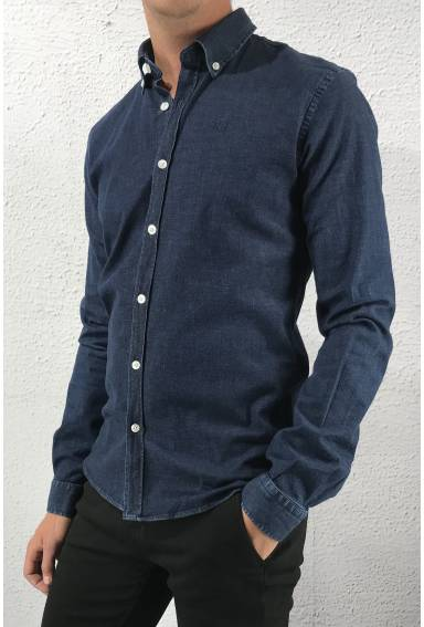 Frank Shirt Dark Blue