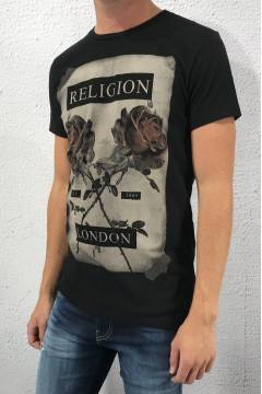 Tee cross rose Black