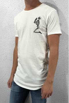 Tee praying skeleton White