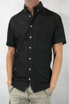 CC 1329 Shirt S/S Ray Chambre Black