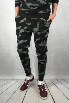 SS-12560 Fitted Jogger Black/Camo